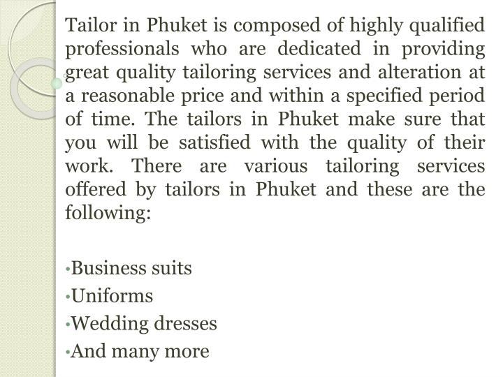 Tailor in