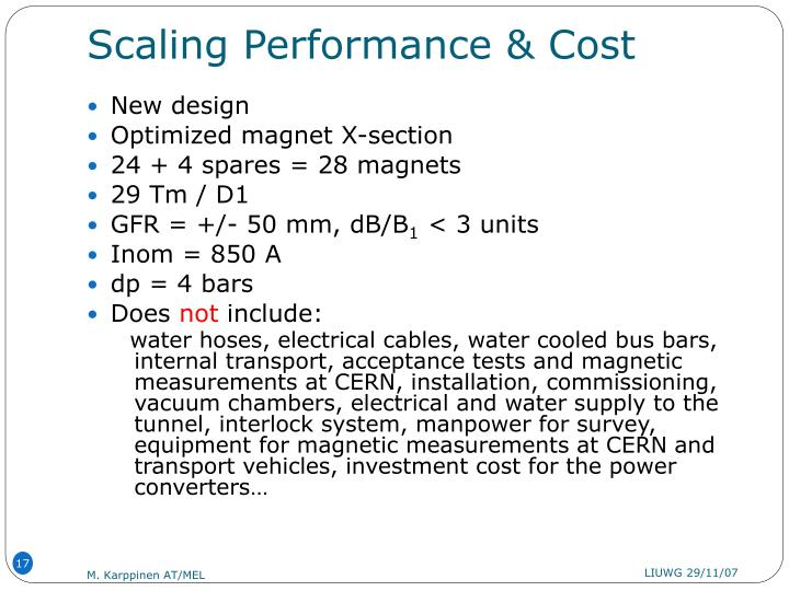 Scaling Performance & Cost