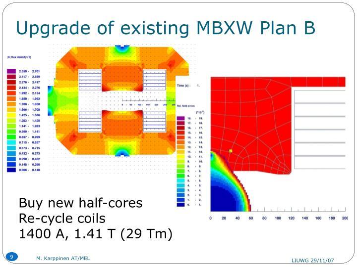 Upgrade of existing MBXW Plan B