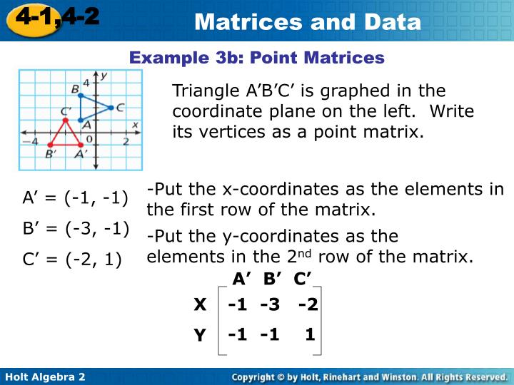 Example 3b: Point Matrices
