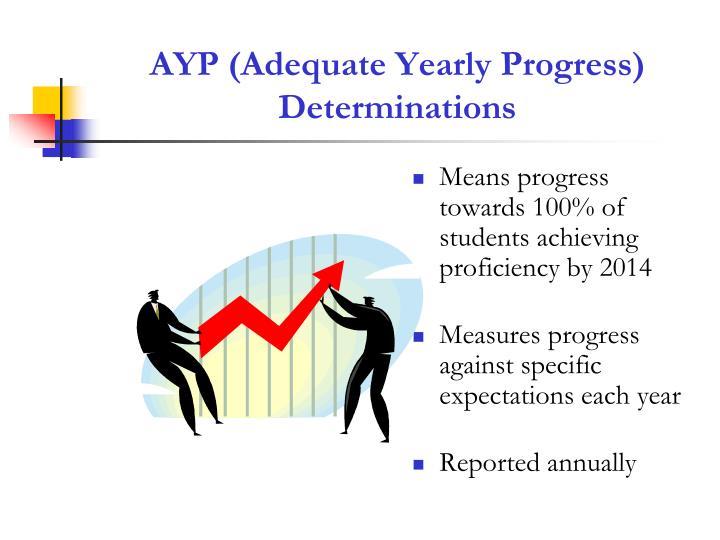 AYP (Adequate Yearly Progress)