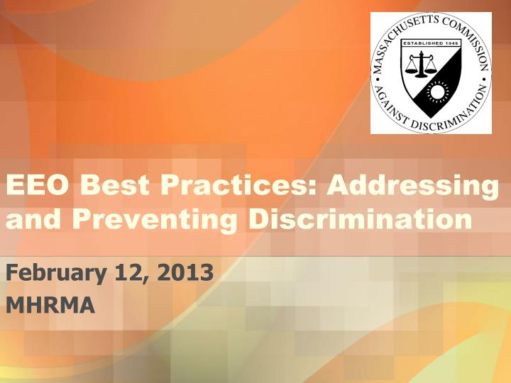 Eeo best practices addressing and preventing discrimination