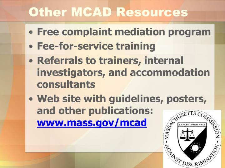 Other MCAD Resources
