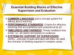 essential building blocks of effective supervision and evaluation