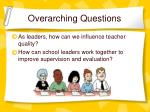 overarching questions1