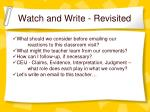 watch and write revisited