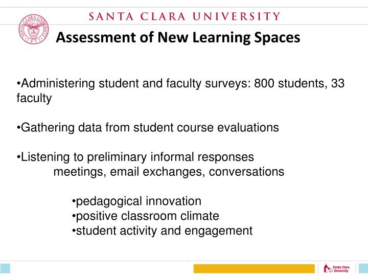 Assessment of New Learning Spaces