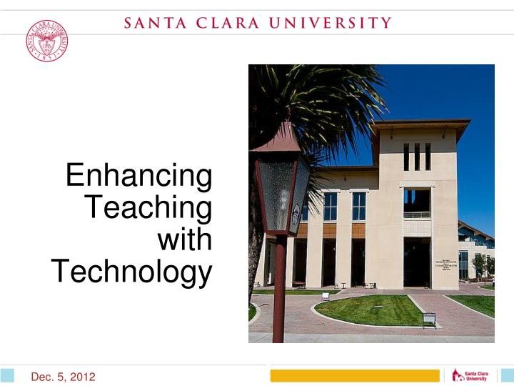 Enhancing teaching with technology