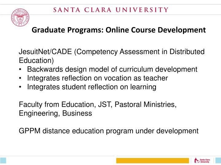 Graduate Programs: Online Course Development
