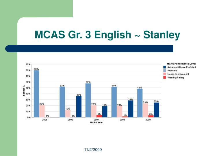 MCAS Gr. 3 English ~ Stanley