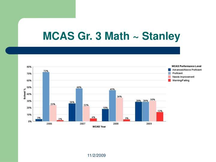 MCAS Gr. 3 Math ~ Stanley