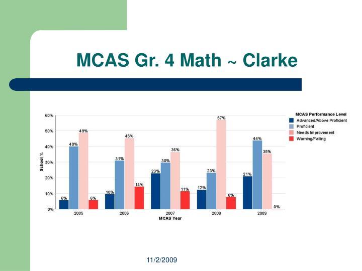 MCAS Gr. 4 Math ~ Clarke