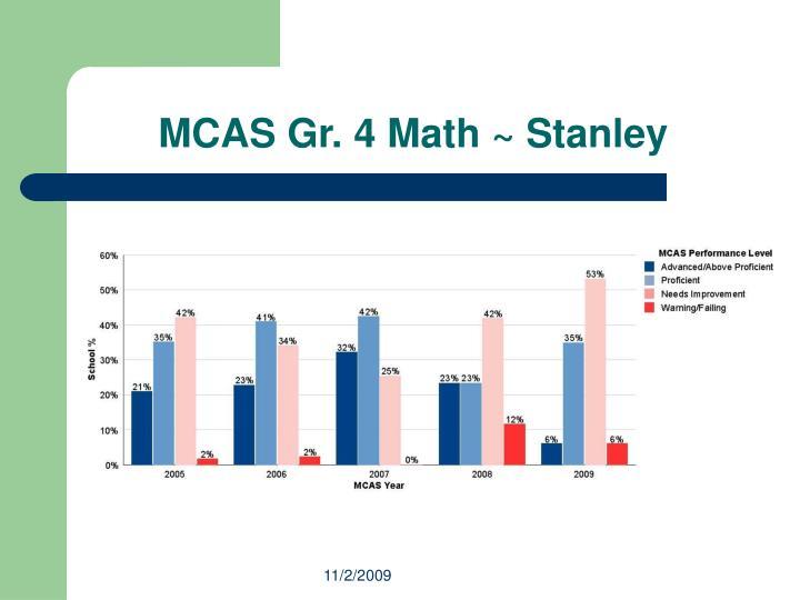 MCAS Gr. 4 Math ~ Stanley