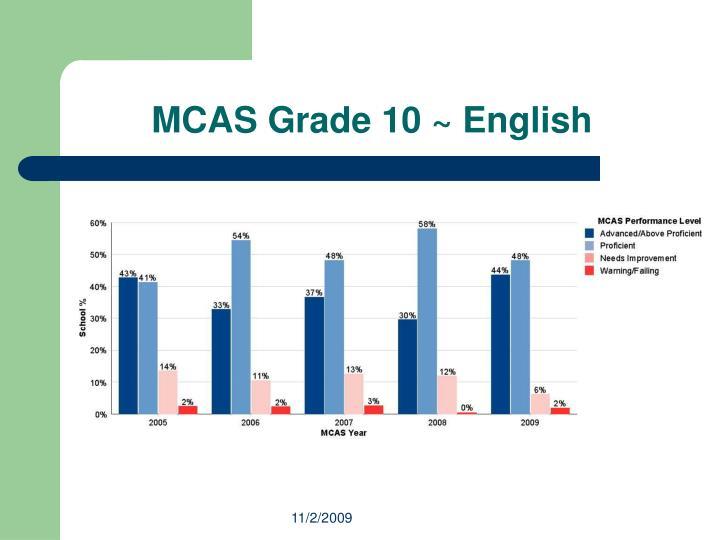 MCAS Grade 10 ~ English