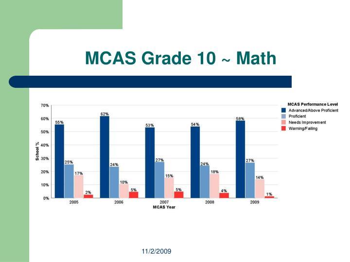 MCAS Grade 10 ~ Math