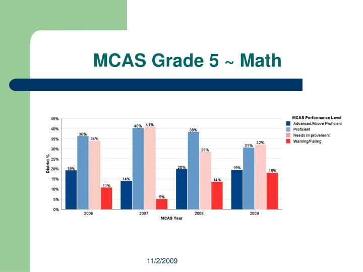 MCAS Grade 5 ~ Math