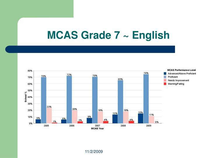 MCAS Grade 7 ~ English