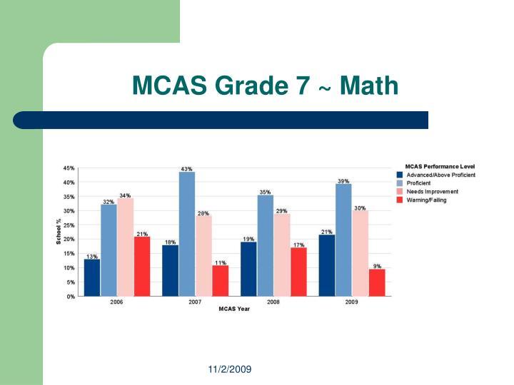 MCAS Grade 7 ~ Math