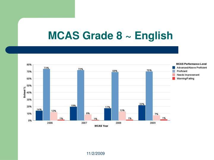 MCAS Grade 8 ~ English