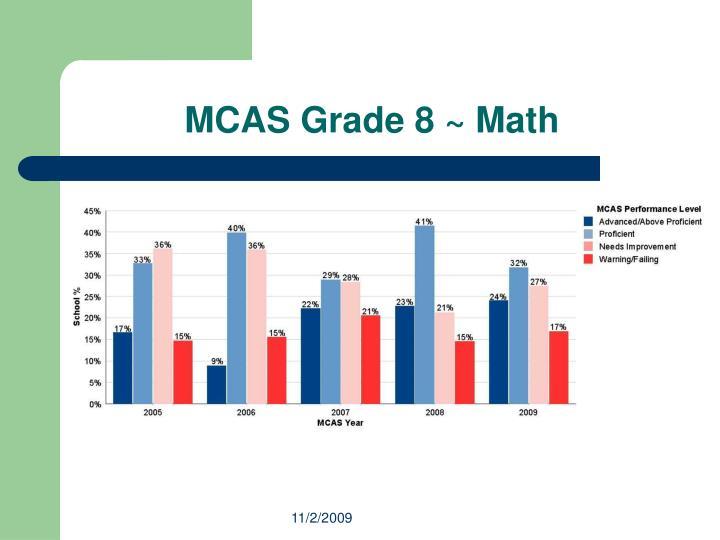 MCAS Grade 8 ~ Math
