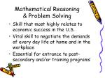 mathematical reasoning problem solving