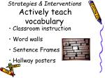 strategies interventions actively teach vocabulary