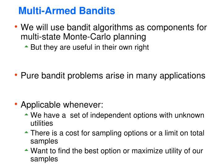 Multi-Armed Bandits