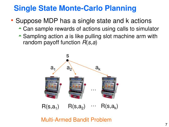 Single State Monte-Carlo Planning