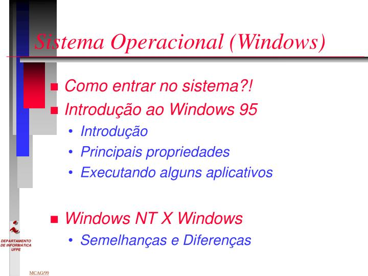Sistema Operacional (Windows)
