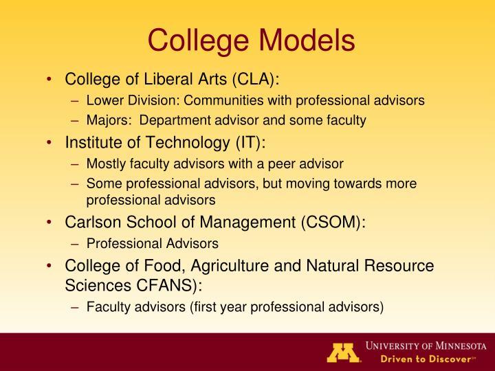 College Models
