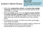 author s word choice