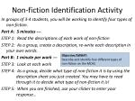 non fiction identification activity