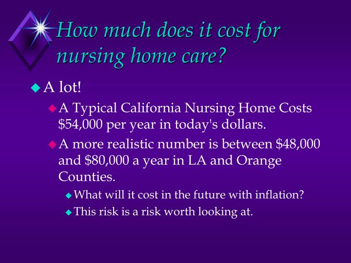 How much does it cost for nursing home care?
