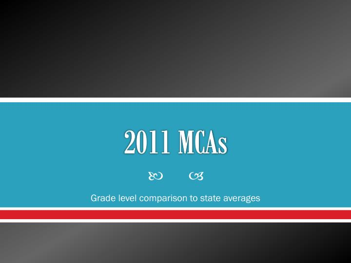 2011 mcas