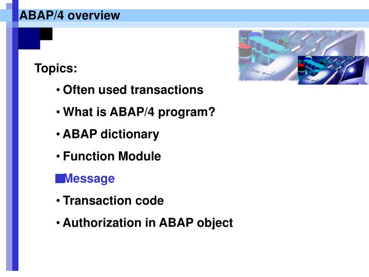 ABAP/4 overview