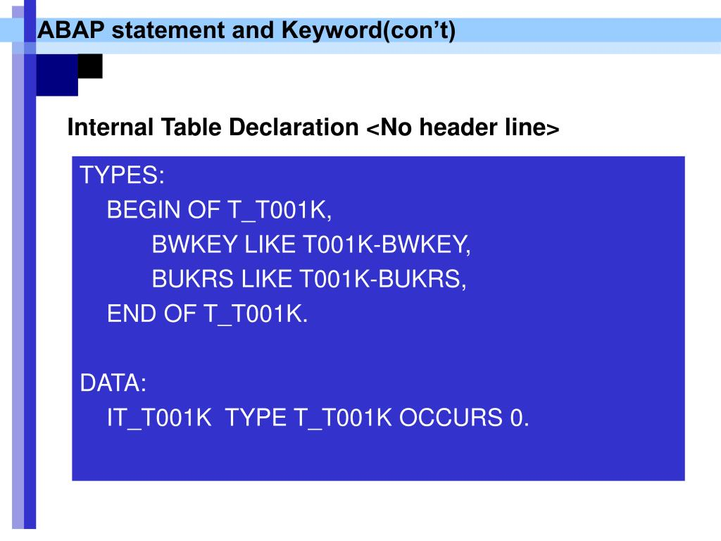 PPT - Simple ABAP/4 for trouble shooting PowerPoint