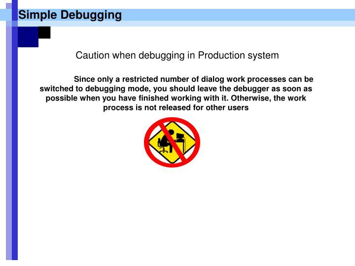 Simple Debugging