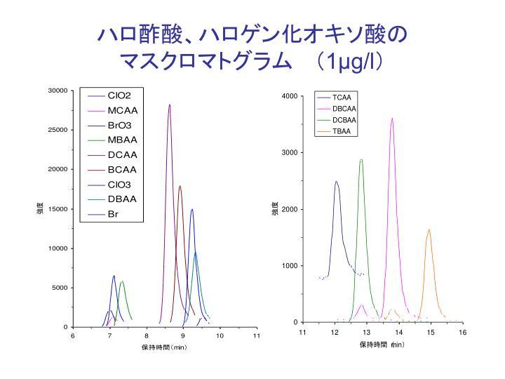 ハロ酢酸、ハロゲン化オキソ酸の