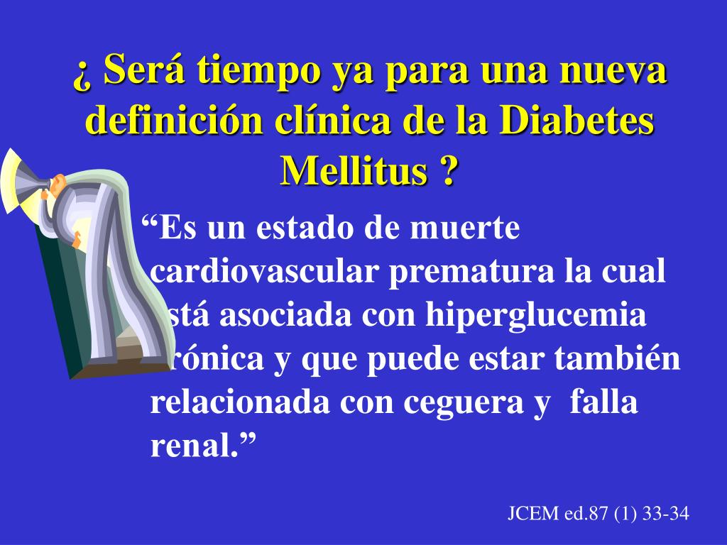 nueva definición de diabetes