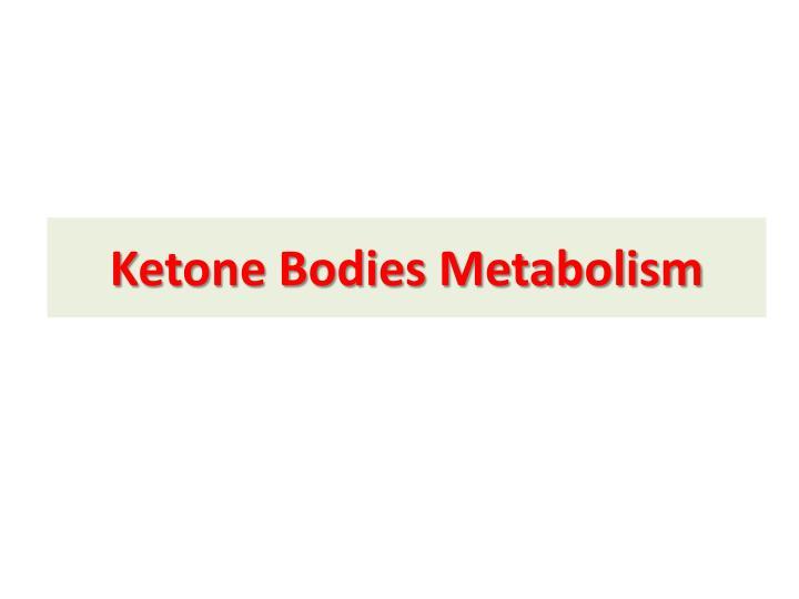 Ketone Bodies Metabolism
