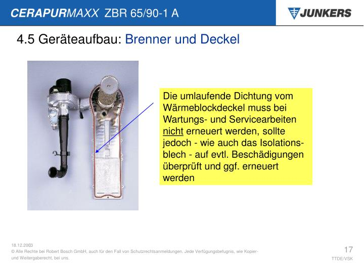 4.5 Geräteaufbau: