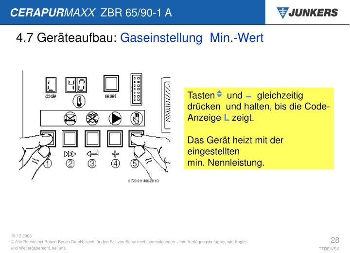 4.7 Geräteaufbau: