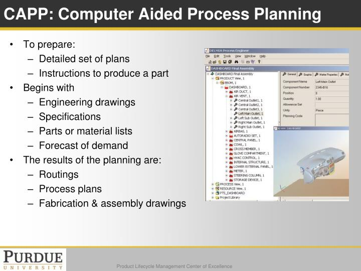 CAPP: Computer Aided Process Planning