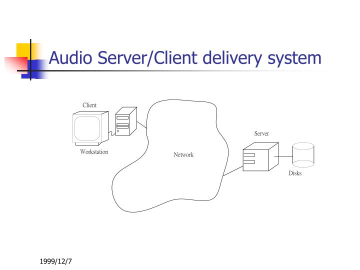 Audio Server/Client delivery system