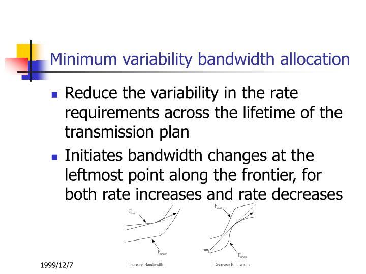 Minimum variability bandwidth allocation