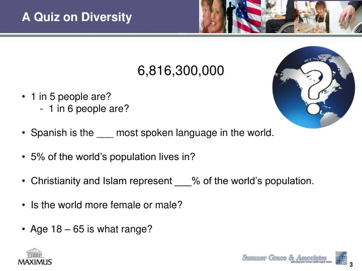 A quiz on diversity