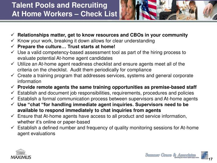 Talent Pools and Recruiting