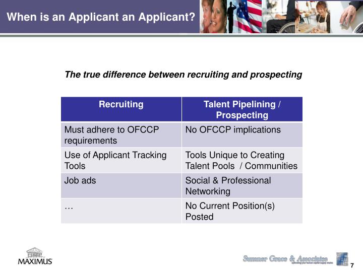When is an Applicant an Applicant?