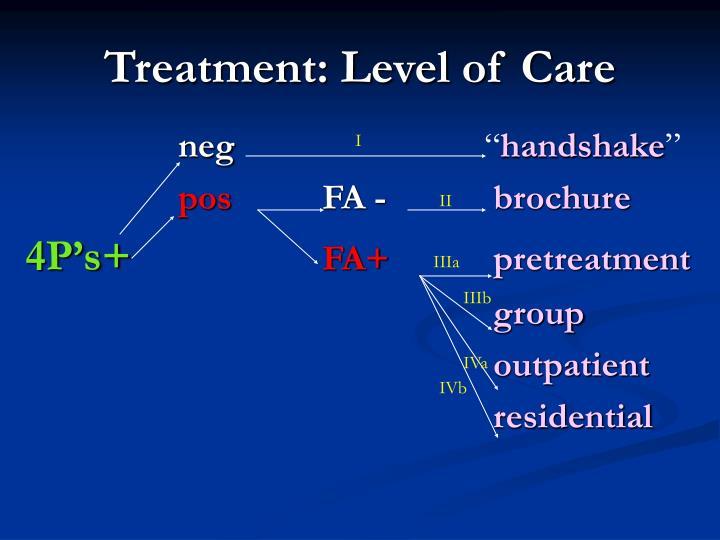 Treatment: Level of Care