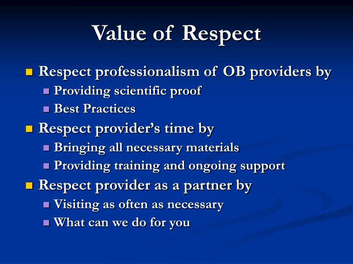 Value of Respect